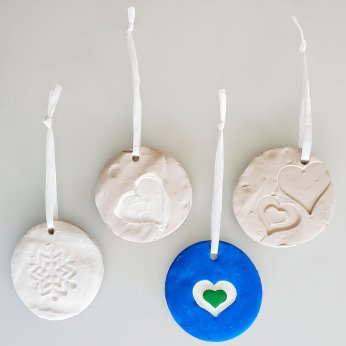 Holiday clay ornaments