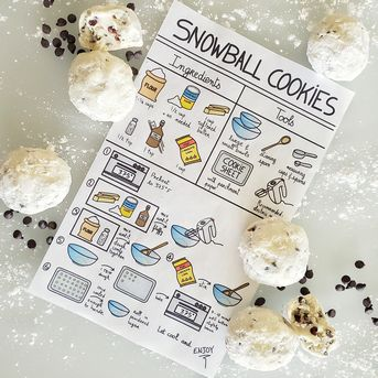 Snowball cookies visual recipe